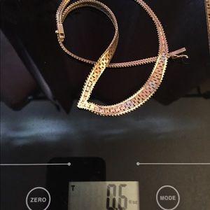 14k tri gold necklace 17g